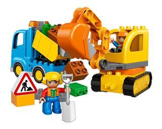 LEGO 10812 - LEGO DUPLO - Teherautó és lánctalpas exkavátor