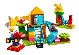 LEGO 10864 - LEGO DUPLO - Nagy Játszótéri elemtartó doboz