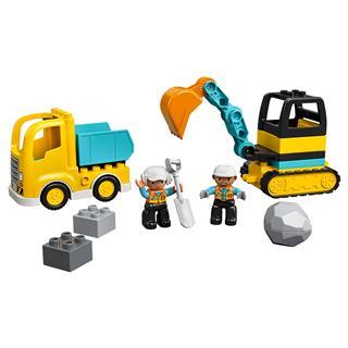 LEGO 10931 - LEGO DUPLO - Teherautó és lánctalpas exkavátor