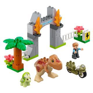 LEGO 10939 - LEGO DUPLO - T-Rex és Triceratops dinoszaurusz szökés
