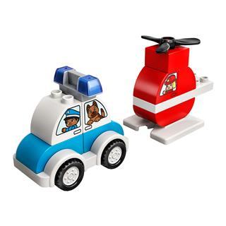 LEGO 10957 - LEGO DUPLO - Tűzoltó helikopter és rendőrautó