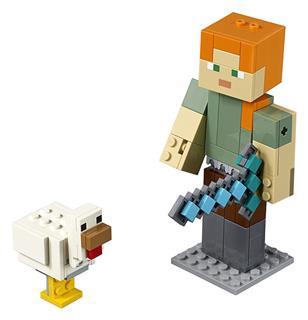 LEGO 21149 - LEGO Minecraft - Minecraft™ BigFig Alex csirkével