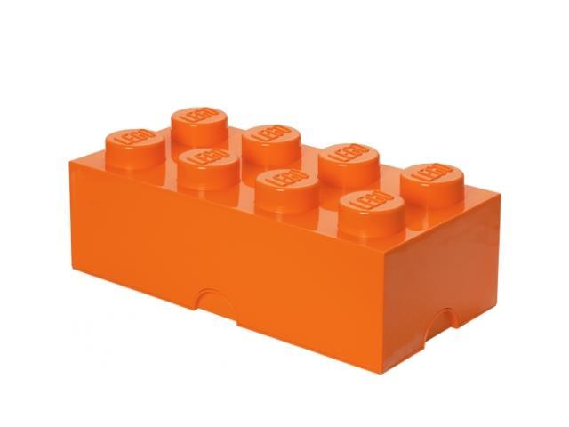 LEGO 40041760 - LEGO Tároló - Nagy, 4x2, narancssárga