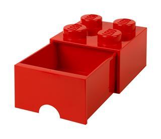 LEGO 40051730 - LEGO fiókos tároló - Nagy, 2x2, piros