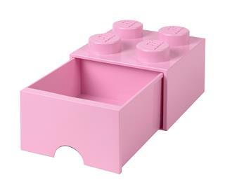 LEGO 40051738 - LEGO fiókos tároló - Nagy, 2x2, rózsaszín