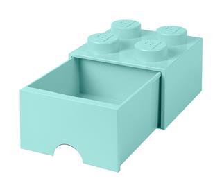 LEGO 40051742 - LEGO fiókos tároló - Nagy, 2x2, türkiz