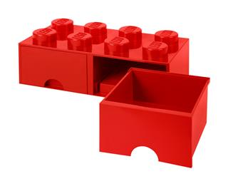 LEGO 40061730 - LEGO dupla fiókos tároló - Nagy, 2x4, piros