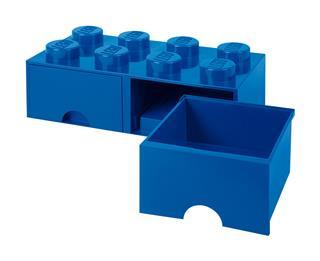 LEGO 40061731 - LEGO dupla fiókos tároló - Nagy, 2x4, kék