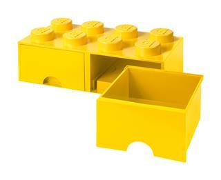 LEGO 40061732 - LEGO dupla fiókos tároló - Nagy, 2x4, sárga