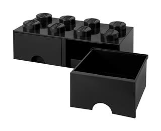 LEGO 40061733 - LEGO dupla fiókos tároló - Nagy, 2x4, fekete