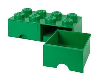 LEGO 40061734 - LEGO dupla fiókos tároló - Nagy, 2x4, zöld