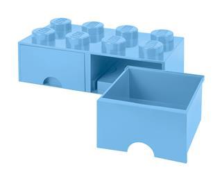 LEGO 40061736 - LEGO dupla fiókos tároló - Nagy, 2x4, világos kék