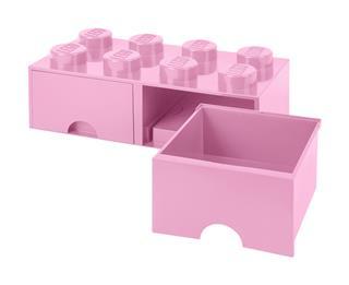 LEGO 40061738 - LEGO dupla fiókos tároló - Nagy, 2x4, rózsaszín