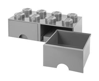 LEGO 40061740 - LEGO dupla fiókos tároló - Nagy, 2x4, szürke