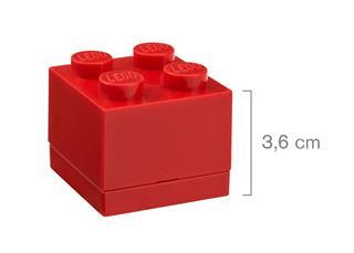 LEGO 40111730 - LEGO Mini tároló - Mini, 2x2, piros
