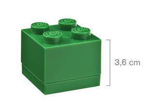 LEGO 40111734 - LEGO Mini tároló - Mini, 2x2, sötétzöld