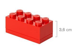 LEGO 40121730 - LEGO Mini tároló - Mini, 4x2, piros