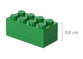 LEGO 40121734 - LEGO Mini tároló - Mini, 4x2, sötétzöld