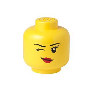 LEGO 40311727 - LEGO tároló - Kicsi kacsintós minifigura fej
