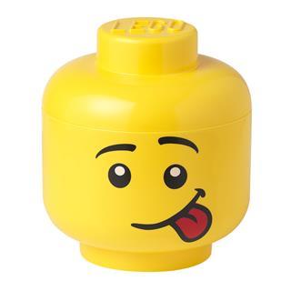 LEGO 40321726 - LEGO tároló - Nagy nyelves mosolygós minifigura fej