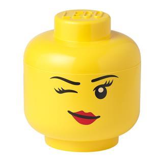 LEGO 40321727 - LEGO tároló - Nagy kacsintós minifigura fej