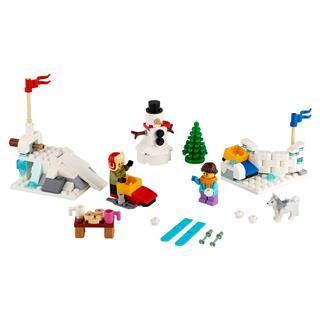 LEGO 40424 - LEGO Exclusive - téli hógolyózás