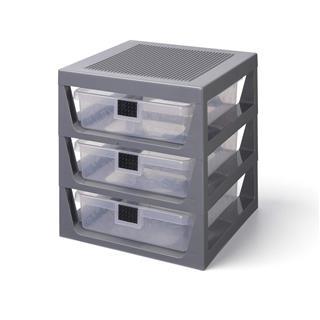 LEGO 40950003 - LEGO tároló - Három fiókos tároló szekrény