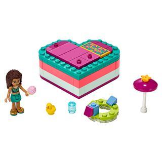 LEGO 41384 - LEGO Friends - Andrea nyári szív alakú doboza