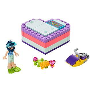 LEGO 41385 - LEGO Friends - Emma nyári szív alakú doboza