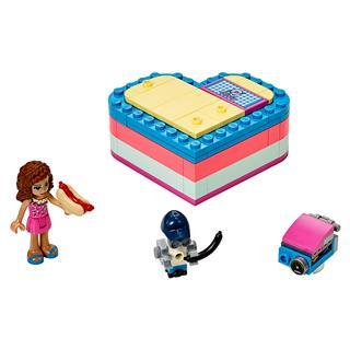 LEGO 41387 - LEGO Friends - Olivia nyári szív alakú doboza