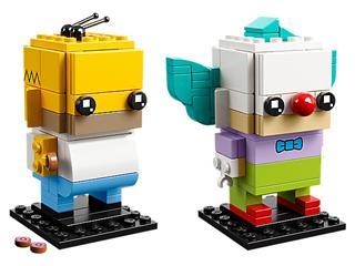 LEGO 41632 - LEGO Brickheadz - Homér Simpson és Ropi a bohóc