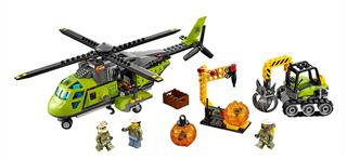 LEGO 60123 - LEGO City - Vulkánkutató szállítóhelikopter