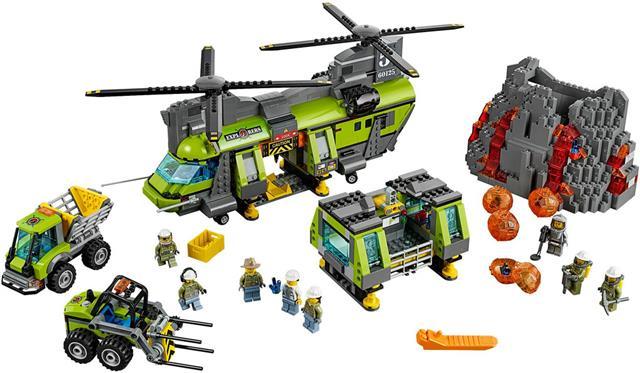 LEGO 60125 - LEGO City - Vulkánkutató teherszállító helikopter