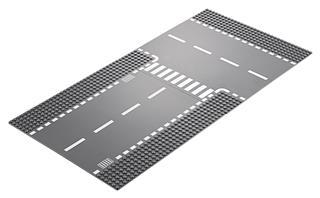 LEGO 60236 - LEGO City - Egyenes útszakasz és T-elágazás