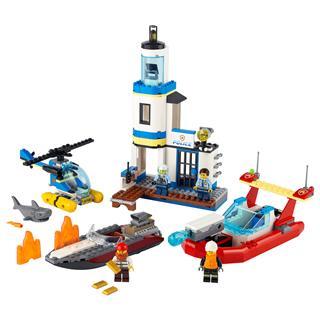 LEGO 60308 - LEGO City -Tengerparti rendőrségi és tűzoltó küldetés