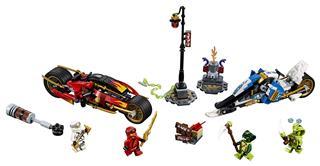 LEGO 70667 - LEGO NINJAGO - Kai Pengés Motorja és Zane motoros sz...