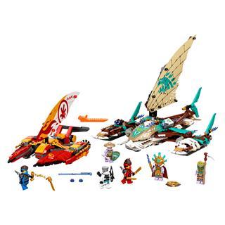 LEGO 71748 - LEGO NINJAGO - Katamarán tengeri csata