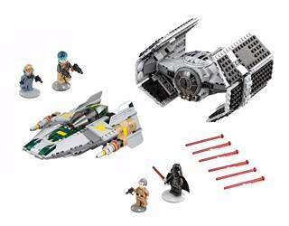 LEGO 75150 - LEGO Star Wars - Vader TIE vadászgépe az A-szárnyú c...