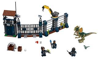 LEGO 75931 - LEGO Jurassic World - Dilophosaurus támadás az előőr...