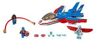LEGO 76076 - LEGO Super Heroes - Amerika Kapitány küldetés a sugá...