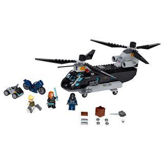 LEGO 76162 - LEGO Super Heroes - A Fekete Özvegy helikopteres üld...