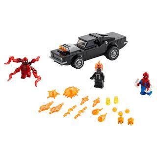 LEGO 76173 - LEGO Super Heroes - Pókember és Szellemlovas vs. Car...