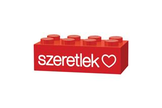 LEGO GLK018 - LEGO gravírozott kocka - Szeretlek (piros)