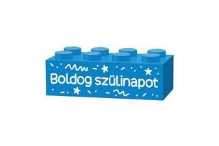 LEGO GLK024 - LEGO gravírozott kocka - Boldog születésnapot! (vilá...