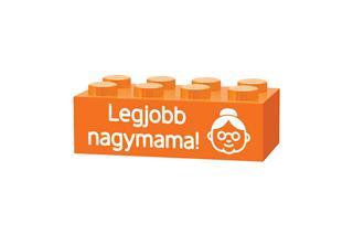 LEGO GLK047 - LEGO gravírozott kocka - Legjobb nagymama! (narancss...