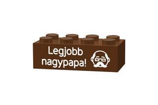LEGO GLK048 - LEGO gravírozott kocka - Legjobb nagypapa! (világoskék)