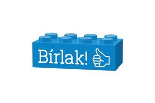 LEGO GLK051 - LEGO gravírozott kocka - Bírlak! (világoskék)