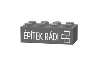 LEGO GLK054 - LEGO gravírozott kocka - Építek rád! (sötétszürke)