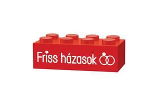 LEGO GLK055 - LEGO gravírozott kocka - Friss házasok (piros)