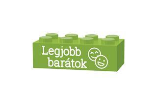 LEGO GLK062 - LEGO gravírozott kocka - Legjobb barátok (világoszöld)